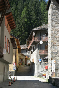 The village of Saint-Rhemy-en-Bosses, Italy