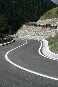 Descending the Great St. Bernard Pass into Italy.