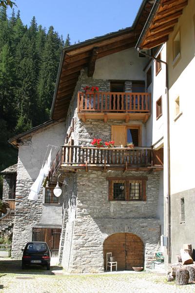 The village of Saint-Rhemy-en-Bosses, Italy