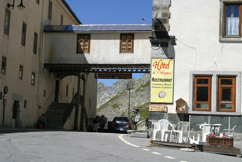 The famous Hospice du Grand-Saint-Bernard