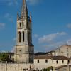 Saint Emilion.   View of the church tower.