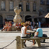 Place du Parlement, movie location and tourist hangout in the heart of the old city.