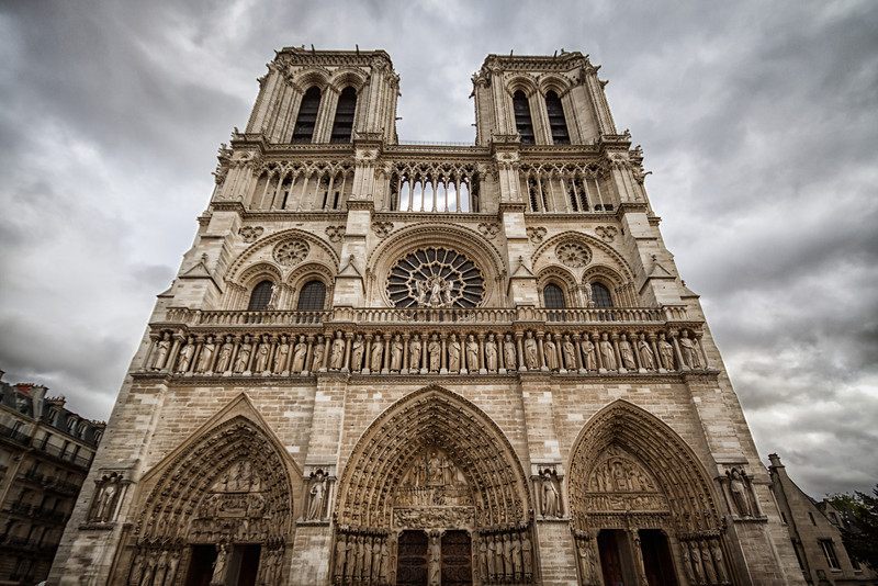 The Notre-Dame Carhedral in Paris, France.