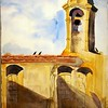 """Church Tower At Arles, France<br /> 15"""" x 11"""" Price: $150. Unframed"""