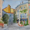 "Chateauneuf Village - Cote D'Azur<br /> 15"" x 22"" Price: $450. Unframed"