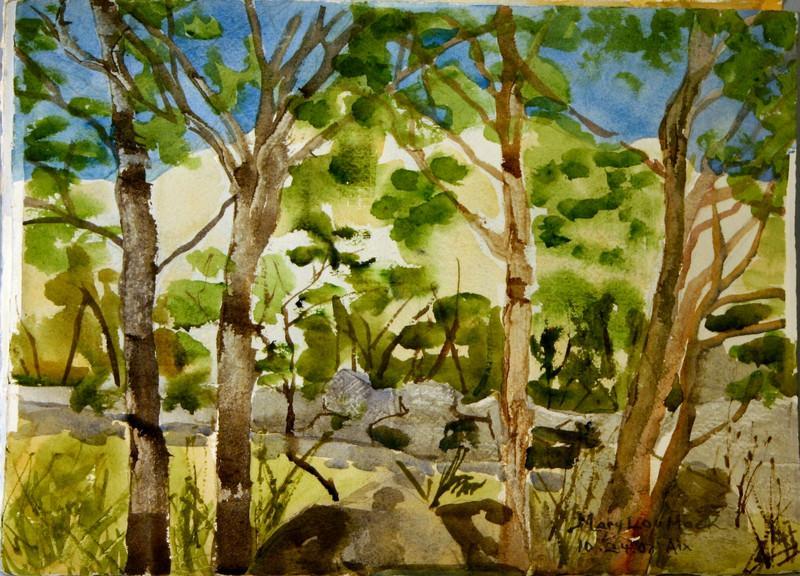 "Mount Sainte Victiore Through The Woods<br /> 11""x 15"" Price:$250. Unframed"