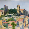 """Le Suquet in Cannes, France<br /> 11"""" x 15"""" Price: $225. Unframed"""