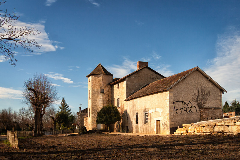 A farm in Perigueux, France.