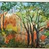 """Cezanne's Bibimus Quarry - Aix En Provence<br /> 15"""" x 22"""" Price: $400. Unframed"""