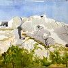 "Mounte Sainte Victiore - Aix En Provence, France<br /> 15"" x 22"" Price: $400. Unframed"