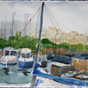 """Antibes Harbor And Fort Carre<br /> 11"""" x 15"""" Price: $300. Unframed"""