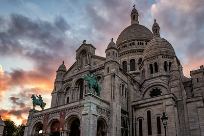 Sacre-Coeur at Sunset - Paris
