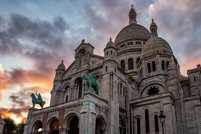 Sacre-Coeur at Sunset - Paris