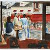 "Cafe At Montmarte - Paris<br /> 15"" x 22"" Price:$500. Unframed"