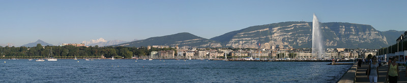 The Left Bank of Geneva from the Right Bank.