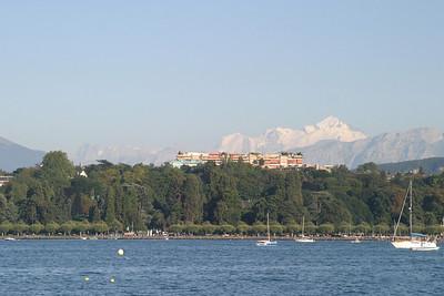 Mont Blanc from Geneva