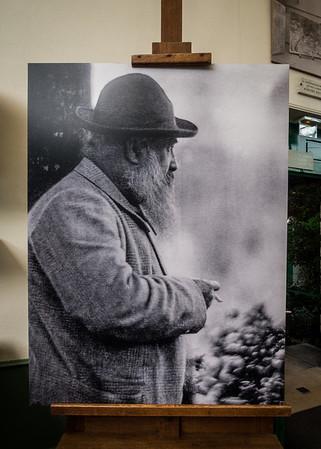 Monet in his garden