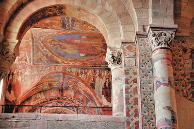Brioude - Remarquables fresques de la basilique Saint-Julien