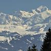 Mont Blanc du Tacul, mont Maudit, mont Blanc - Devant, le dôme du Goûter