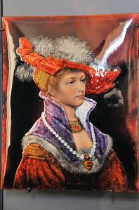 Limoges - Musée des Beaux-Arts - Emaux de Limoges, Jeune Femme (Ernest Blancher, avant 1886)