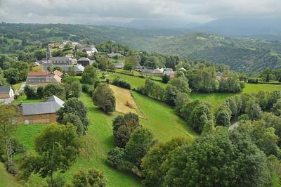 Mauvezin - Vue du chemin de ronde du Château