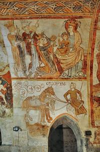 Gargilesse-Dampierre - Crypte de l'église Saint-Laurent et Notre-Dame - Fresques du XIIe siècle