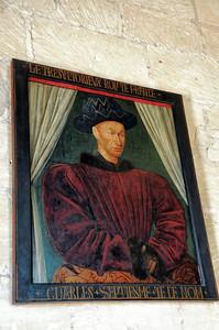 Loches - Logis royal - Salle Charles VII - Portrait de Charles VII