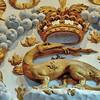 Château de Chenonceau - La salamandre, contorsionnée de la plus belle façon décorative