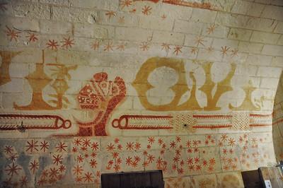 Loches - Forteresse - Le Martelet - Cachot de Ludovic Sforza et ses peintures murales