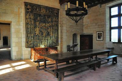 Loches - Logis royal - Salle Charles VII, l'antichambre du roi