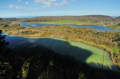 Belvédère des Quatre Lacs - Lacs d'Ilay et du Grand Maclu