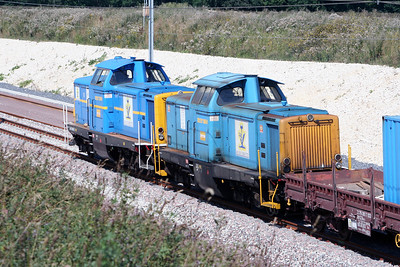 V212 088 & V212 258 near Lucy le Bocage on 3rd August 2005