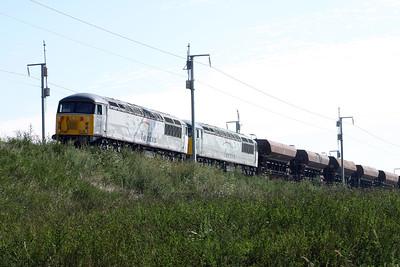 56 106 & 56 090 near 43KM post (Vendrest) on 3rd August 2005