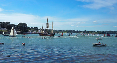 The Grande Parade: view from Ile-aux-Moines looking back at Port Blanc, Baden