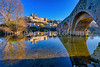 The River Orb at Beziers with the Pont Vieux and St. Nazaire Cathedral
