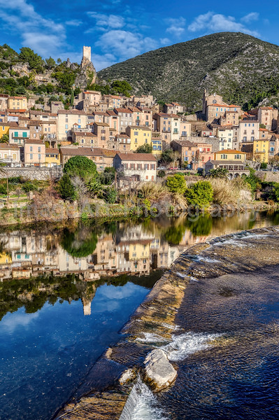 The Saint Chinian wine area and the village of Roquebrun, Herault