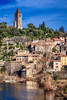 The village of Olargues, Herault, France