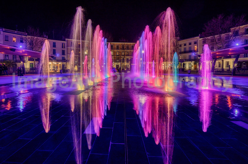 Musical Fountains in Beziers, Herault, France