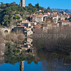 The historic village of Olargues, France