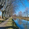 Blue sky reflected in the Canal du Midi