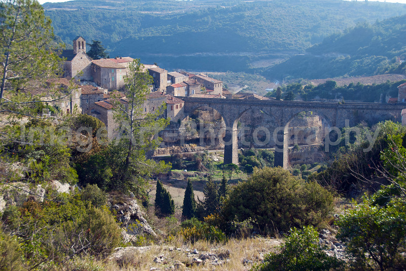 The medieval city of Minerve in France