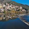 The village of Roquebrun, France