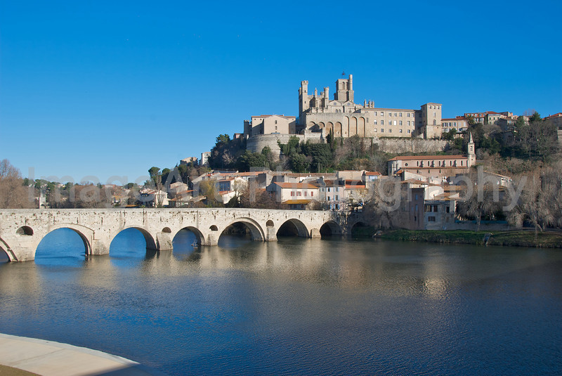 Beziers Cathedral and the Pont Vieux, South of France