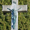 A cross dating from 1915 in a graveyard in France