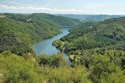 Chambles - Le paysage de la Loire