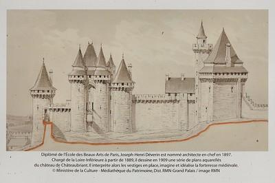 Châteaubriant (Kastell-Briant) - L'ancienne physionomie du vieux château