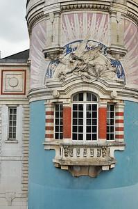 Nantes (Naoned) - Avenue Carnot - Détail de la tour LU (Lefèvre-Utile)