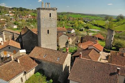 Cardaillac, du haut de la tour de Sagnes