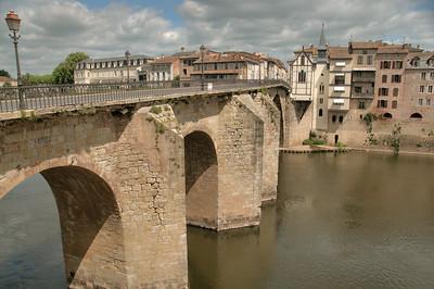 Villeneuve-sur-Lot - Pont des Cieudats et chapelle du Bout-du-Pont