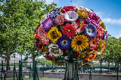Flower sculpture in Place Bellecourt
